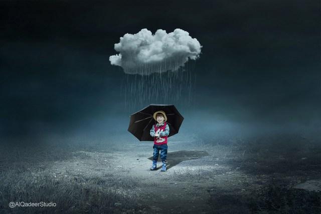 Cloud & Child - Photoshop Manipulation Tutorial