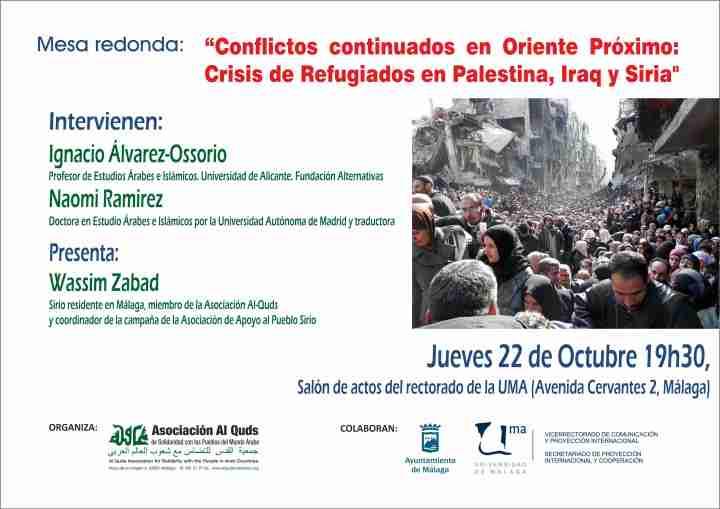 Cartel Mesa redonda Siria Octubre 2015