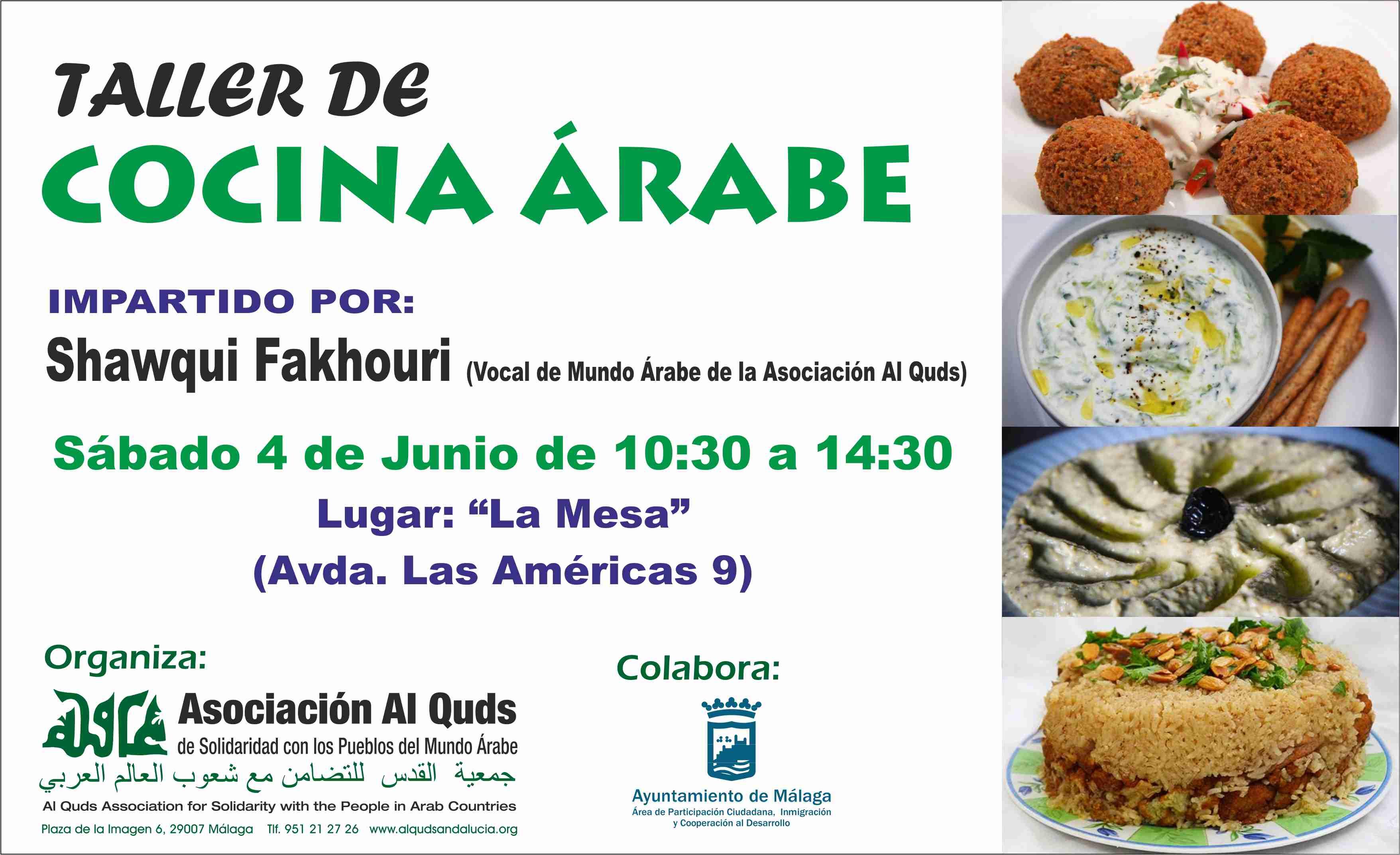 Cartel Taller Cocina Arabe 2016 2