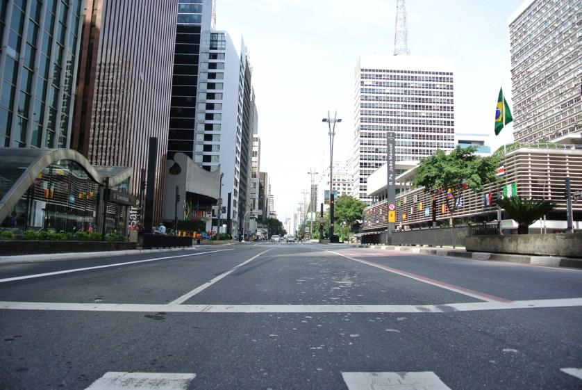 Así se veían las calles cuando había partido de Brasil en la copa del mundo.