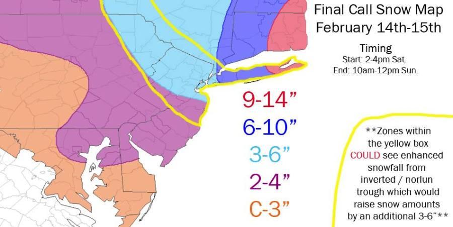 2-14 Snow Map Frank