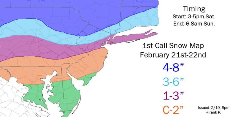 2-21 snowfall map