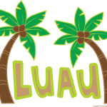Luau and palm trees