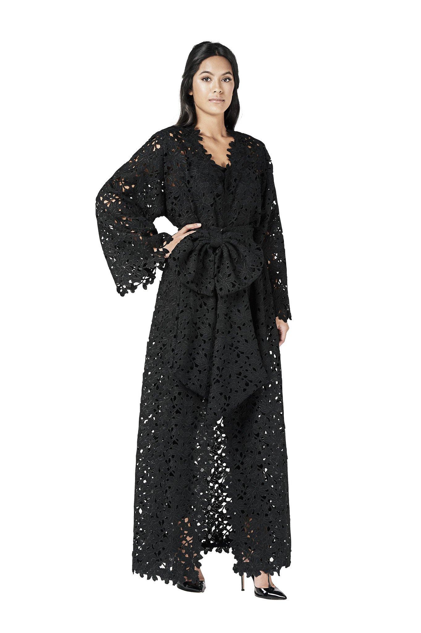 احدث موديلات عبايات خليجية سوداء فخمة 2015 2016 Avan
