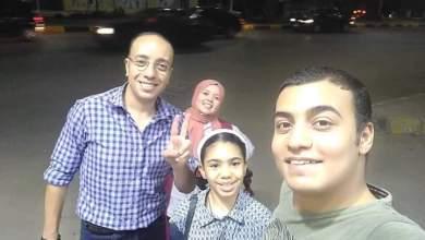 المواطن المصري احمد الجيزاوي وأسرته