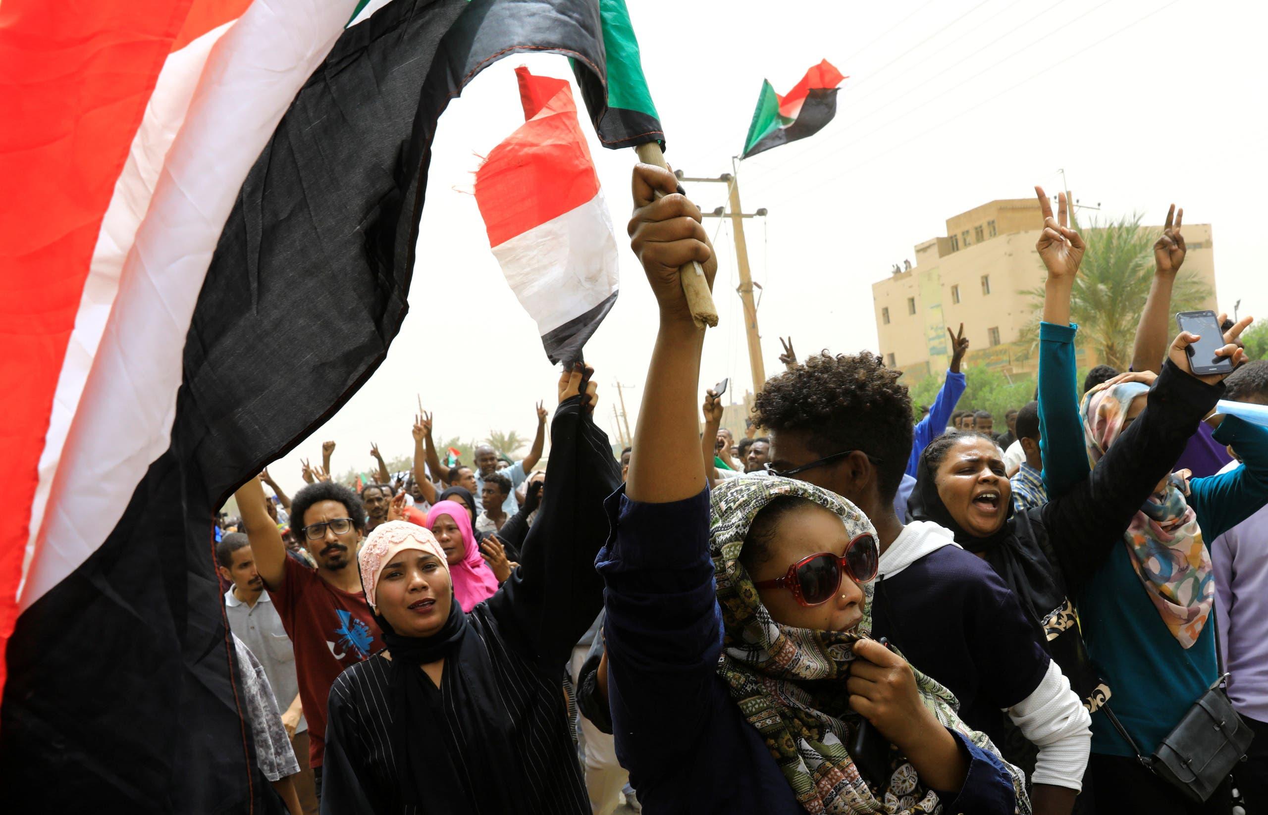 مظاهرات في شوارع الخرطوم الأحد 30 يونيو 2019