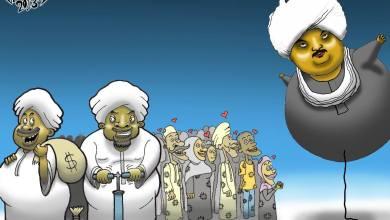 حسين خوجلي ... كاريكاتير محمد إسماعيل