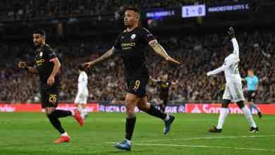 جيسوس يحتفل بهدفه في مرمى ريال مدريد