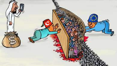 لاجئو سوريا في مهب الريح ... كاريكاتير عمر دفع الله