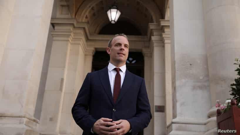 وزير الخارجية البريطاني دومينيك راب