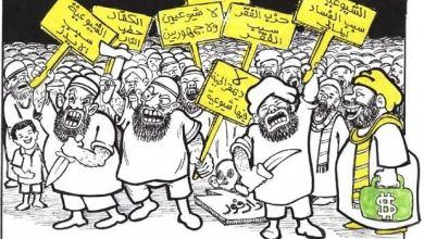 الإسلاميون والشيوعيون ... كاريكاتير عمر دفع الله