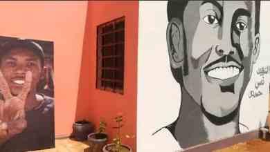 جدارية الشهيد قصي حمدتو في المركز الصحي الذي سمي بإسمه