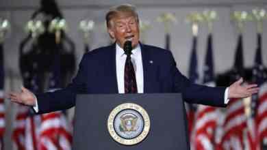الرئيس ترامب يلقي خطابه بمناسبة ترشيح الحزب الجمهوري له للتنافس على دورة رئاسية جديدة GETTY IMAGES