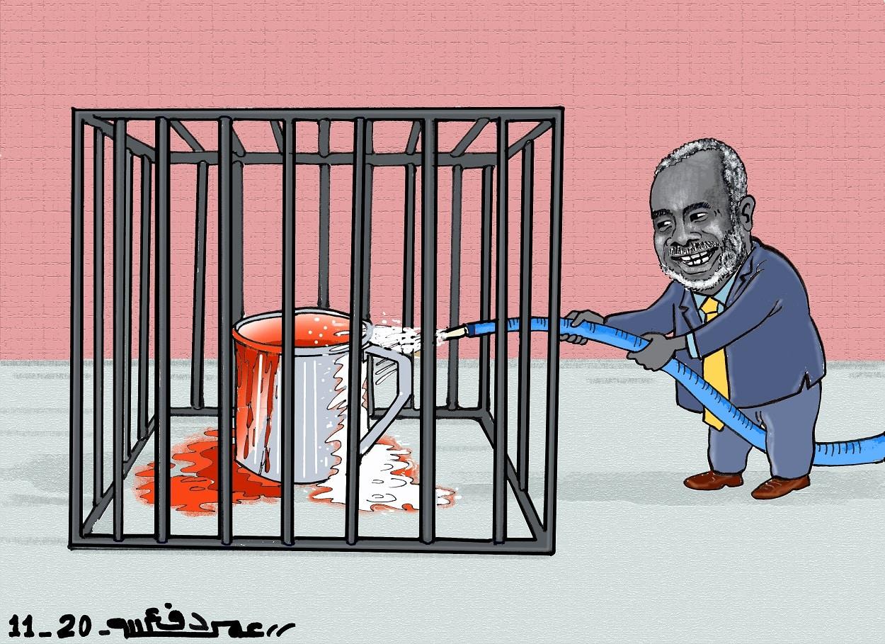 حركة العدل والمساواة والكيزان ... كاريكاتير عمر دفع الله