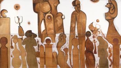 الأدباء السودانيون انطلقوا من القاع (لوحة للفنان إبراهيم صلاحي)