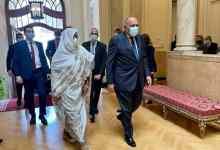 مريم الصادق المهدي خلال زيارتها لمصر