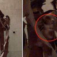 """The Angel of 9/11"" - Haunting face appears in mangled girder"