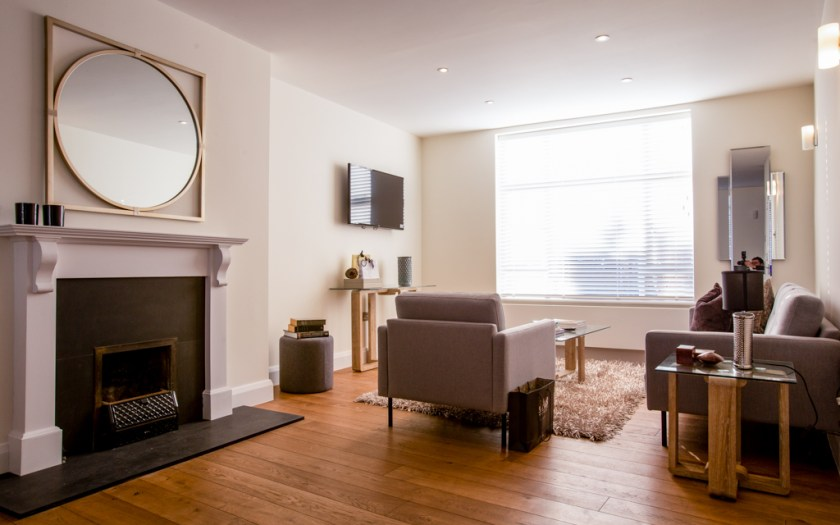 Redcliffe Road Sitting Room With Wooden Floor