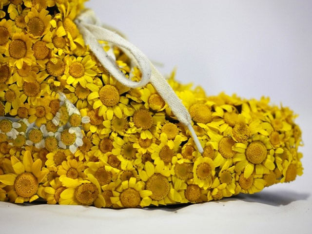 Nike_yellow_shoes_flowers