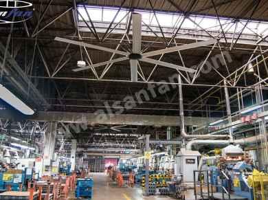 üretim tesisi tavan vantilatörleri