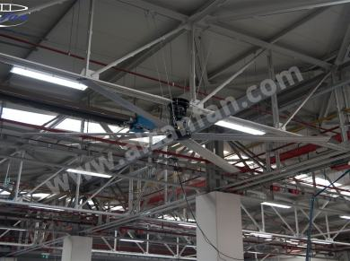 factory ceiling fans applications