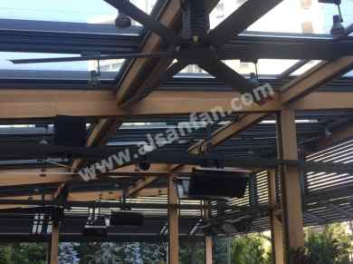 stylist hvls fans for restaurant