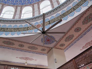 Masjid (Mosque) Fancy Ceiling Fans Applications, Masjid (Mosque) Fancy HVLS Fans Applications