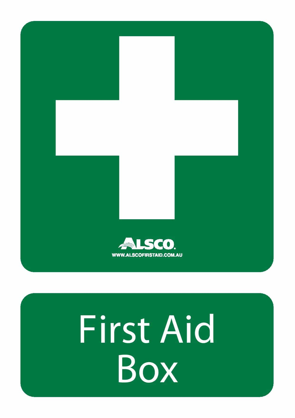 Multiple First Aid Signs