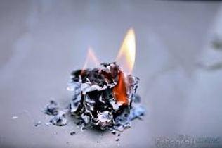 dibakar