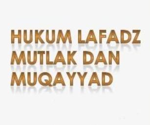 mutlak muqayyad