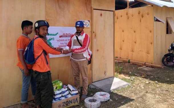 Penyerahan Material Tambahan untuk Hunian Sementara di Petobo