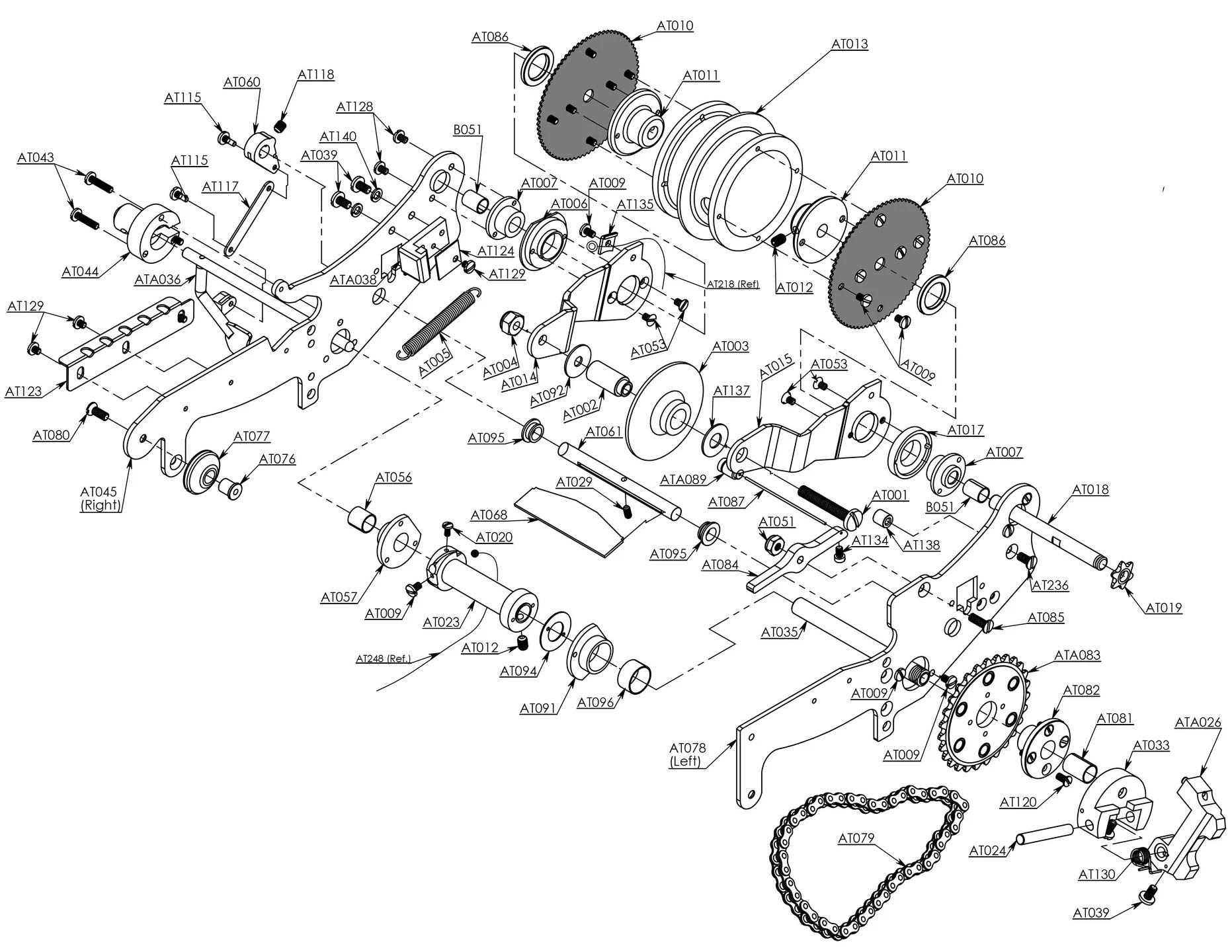 At Taper Upper Head Parts Diagram