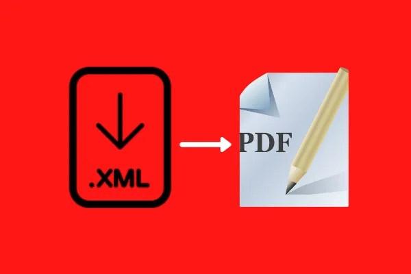 convert xml to pdf