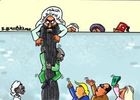 كاريكاتير عمر دفع الله عن علاقات البشير الاقليمية