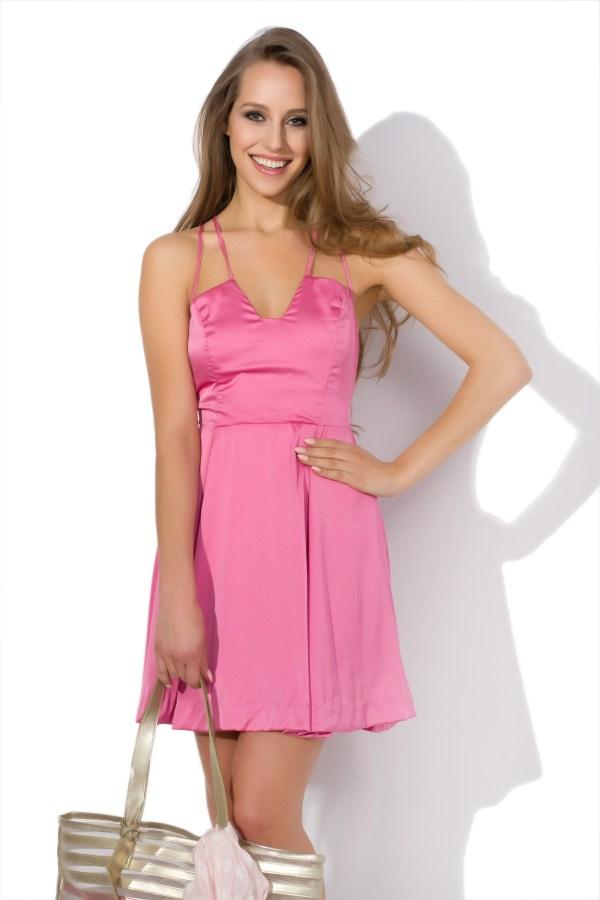 Sukienka mini z naturalnego jedwabiu