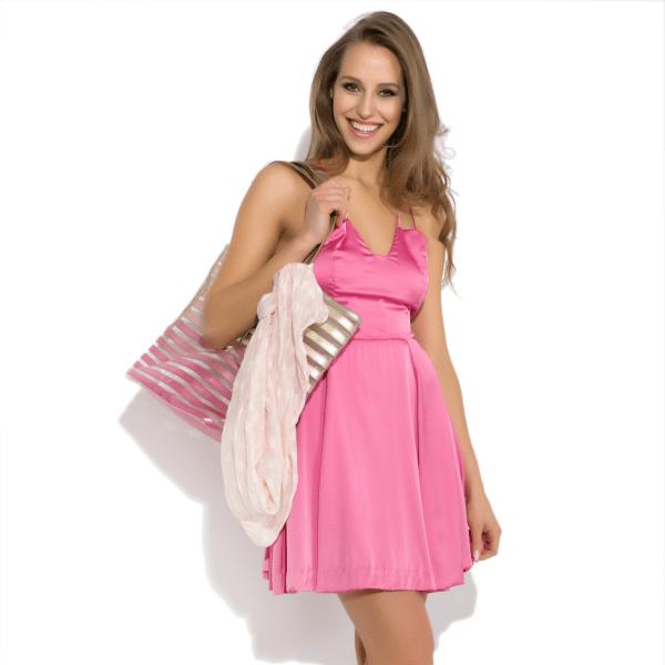 Robe mini en soie naturelle