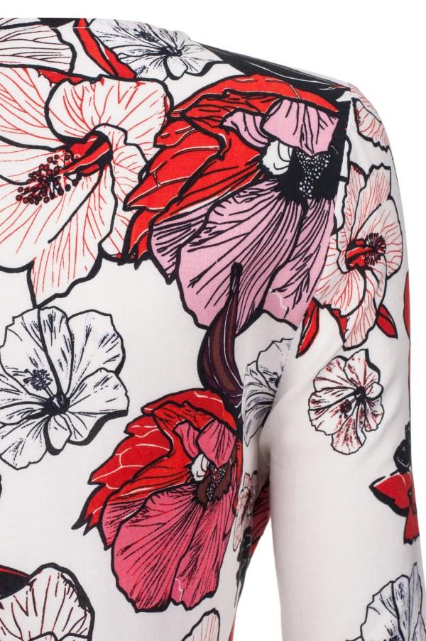 Sukienka z nadrukiem kwiatowym packshot zoom
