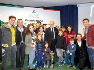La Futuratletica premiata dal presidente della FIDAL, Alfio Giomi