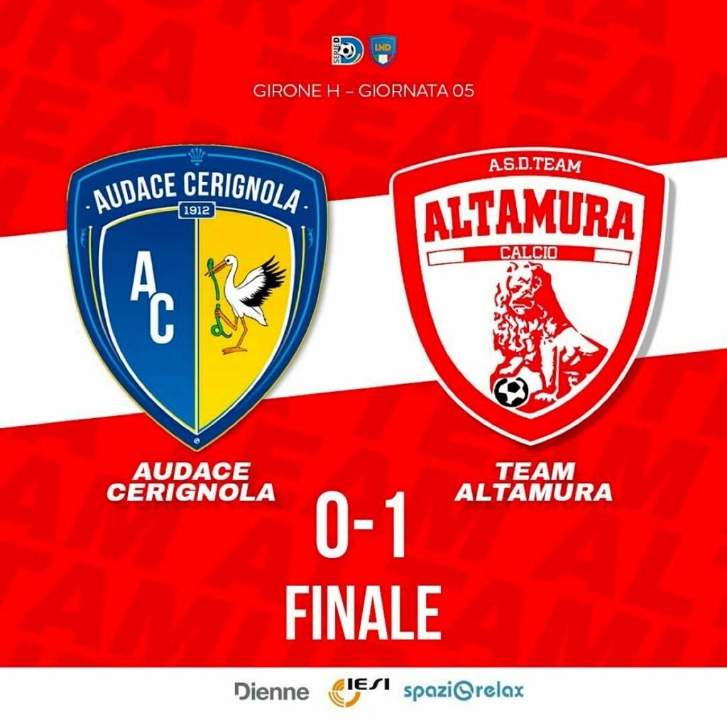 Audace Cerignola - Team Altamura 0-1 (photo credits Team Altamura)