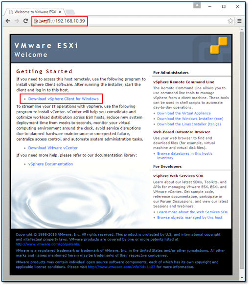 How to install vSphere ESXi on a bare metal server