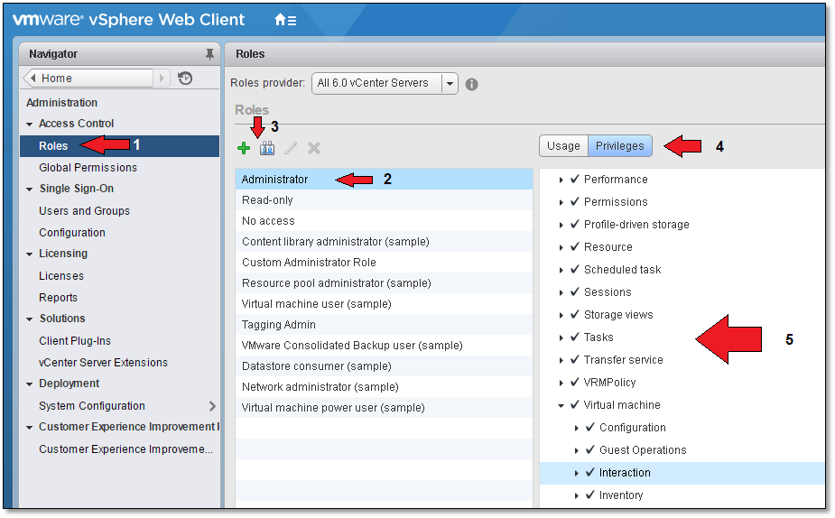 vCenter Server Security with Roles, Permissions and Privilages