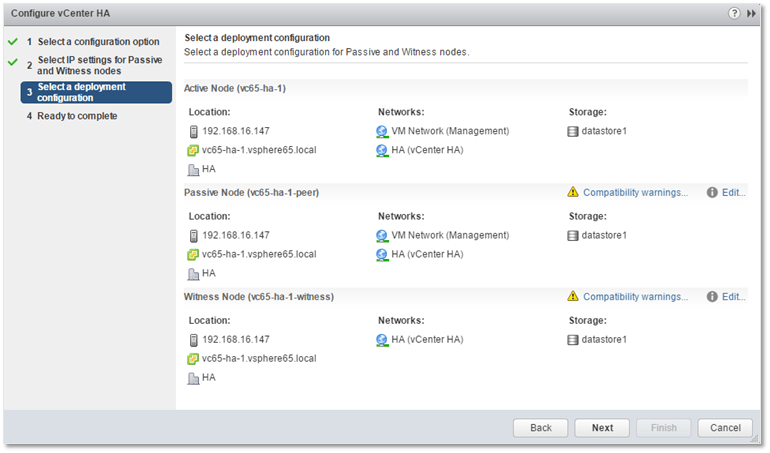 How to deploy a vCenter HA cluster – Part 1