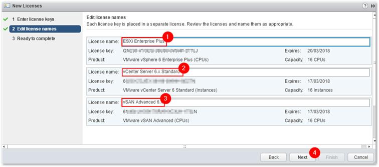 vcenter server assign license key failed to respond