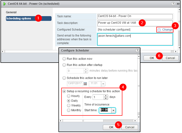 How to Create a Scheduled Task in vCenter Server