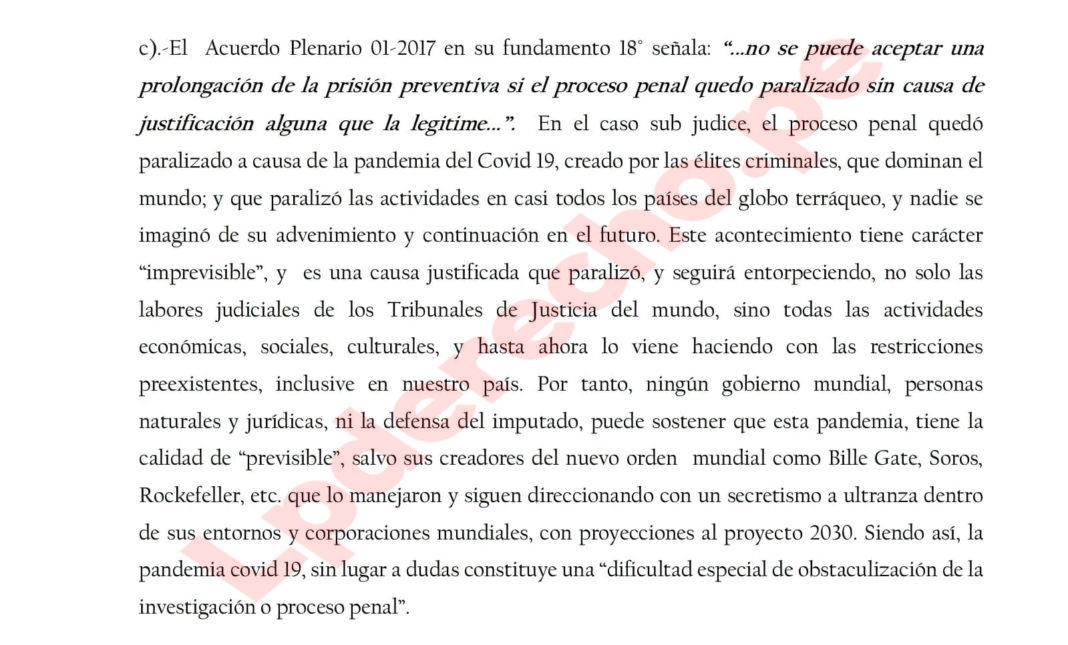 Tribunal peruano acusó a Bill Gates de crear el Covid-19
