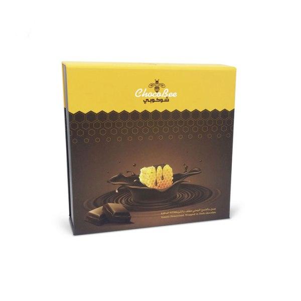 عسل بالشمع اليمنى مغلف بالشوكولاتة الداكنة