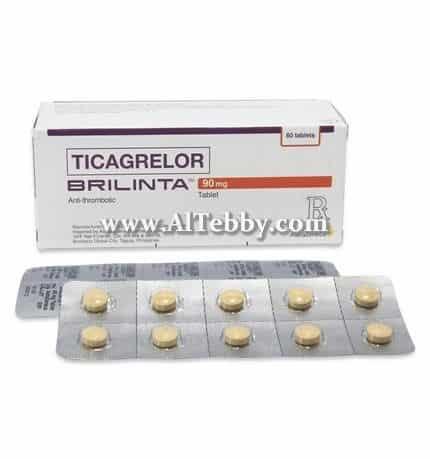 Brilinta film-coated tab 90 mg ادارة الغذاء والدواء توافق على استعمال اضافي لعقار تيكاجريلور Ticagrelor [دواء drug]