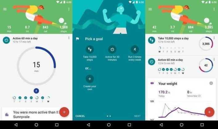 برنامج لياقة جوجل Google Fit - متابعة مستوى اللياقة