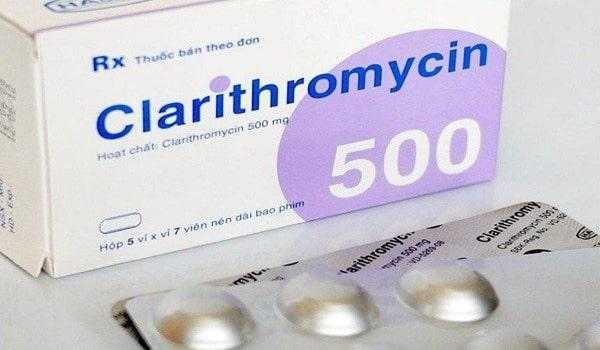 Clarithromycin cornorary heart disease