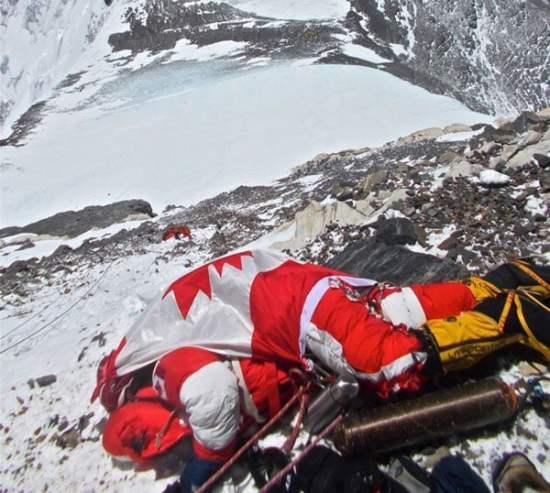 Body of Shriya Shah-Klorfine on Mt. Everest, 300m below the summit.